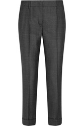 Prada Wool Slim Leg Pants Dark Gray