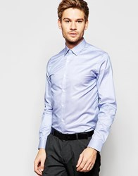 Selected Homme Long Sleeve Smart Shirt In 100 Cotton In Regular Fit Classic Blue