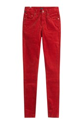Citizens Of Humanity Skinny Velvet Pants Red