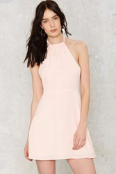 Nasty Gal Tara Halter Mini Dress Pink