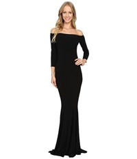 Norma Kamali Off The Shoulder Fishtail Gown Black Women's Dress