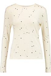 Kain Label Edith Printed Cotton And Modal Blend Jersey Top White