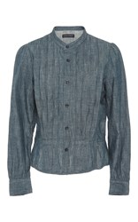 Citizens Of Humanity Tami Pleated Blouse Blue