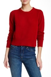 Marc By Marc Jacobs Long Sleeve Crew Neck Merino Wool Sweater