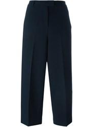 Michael Michael Kors Stripe Applique Cropped Trousers Blue