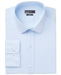 Bar Iii Men's Fitted Light Blue Hairline Dress Shirt Only At Macy's