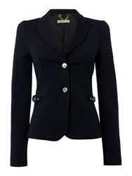 Versace Jeans Side Buckle Blazer Black