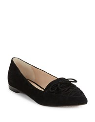 French Connection Gesine Lace Up Suede Flats Black