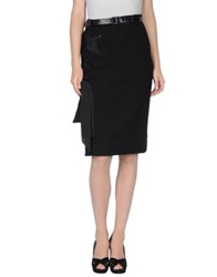 Boudicca Knee Length Skirts Black