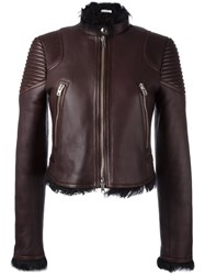 Givenchy Lined Biker Jacket Red