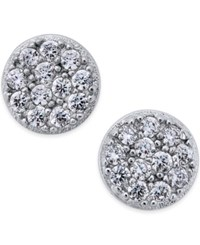 Studio Silver Cubic Zirconia Stud Earrings 2 5 Ct. T.W. In Sterling Silver