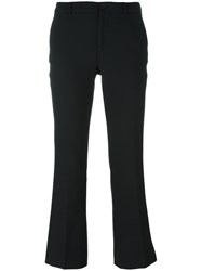 Pt01 'Jaine' Flared Trousers Black