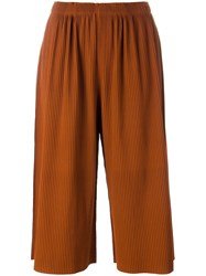 Issey Miyake Cauliflower Cropped Trousers Yellow Orange