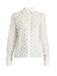 See By Chloe Lace Back Fil Coupe Shirt White