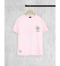 Illustrated People Alive Tiger Cotton Jersey Top Pink