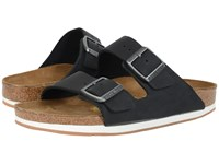 Birkenstock Arizona Sport Unisex Black Oiled Leather Shoes