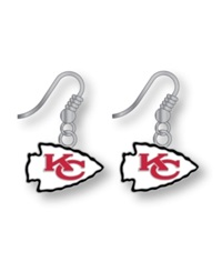 Aminco Kansas City Chiefs Logo Drop Earrings Team Color