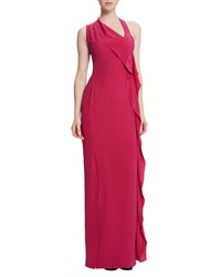 Raoul Billy Jean Draped Column Gown Pigment Red