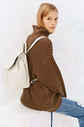 Silence And Noise Silence Noise Pebbled Leather Mini Backpack White