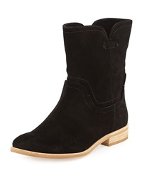 Splendid Palisade Notched Suede Bootie Black