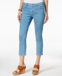 Tommy Hilfiger Embroidered Dot Cropped Jeans Embroidered Dot