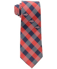 Eagles Wings Washington Capitals Checked Tie Red