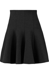 Mcq By Alexander Mcqueen Flared Stretch Jersey Mini Skirt Charcoal