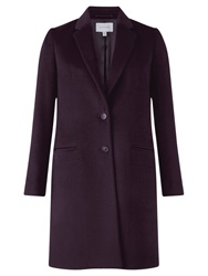 Jigsaw City Wool Coat Plum