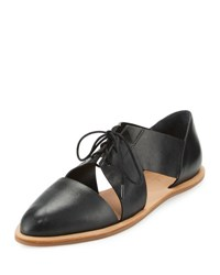 Loeffler Randall Willa Cutout Leather Oxford Black