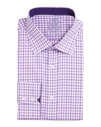 English Laundry Gingham Check Dress Shirt Lavender