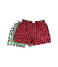 Tommy Hilfiger 3 Pack Woven Boxer Cardinal Men's Underwear Red
