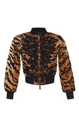 Dsquared2 Embroidered Mini Bomber Jacket Print