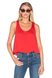 L'academie The Swing Tank Blouse Red