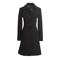 J.Crew Tall Double Cloth Lady Day Coat With Thinsulate Black