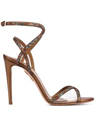 Aquazzura 'Leila' Sandals Brown