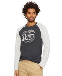 Denim And Supply Ralph Lauren Eagle Graphic Baseball Tee Heather Grey