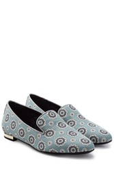 Burberry Shoes And Accessories Printed Fabric Slip Ons Multicolor