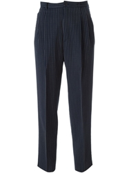 Guy Laroche Vintage High Waisted Stripe Trousers