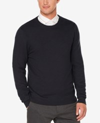 Perry Ellis Men's Multi Directional Knit Sweater Dark Sapphire