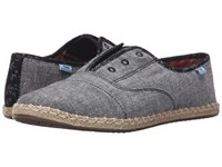 Toms Palmera Slip On Grey Chambray Women's Flat Shoes Gray