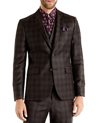 Ted Baker Yonkers Checked Slim Fit Sport Coat Brown