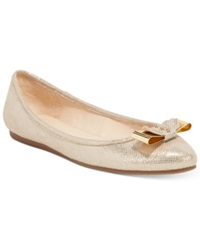 Bar Iii Penguin Bow Flats Only At Macy's Women's Shoes Gold
