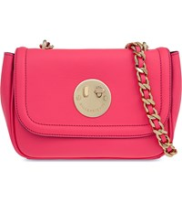Hill And Friends Happy Chain Leather Shoulder Bag Happy Pink