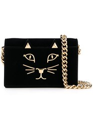 Charlotte Olympia 'Feline' Shoulder Bag Black