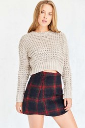 Cooperative Elton Plaid Mini Skirt Blue Multi