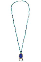 Chan Luu Turquoise And Lapis Beaded Necklace Blue