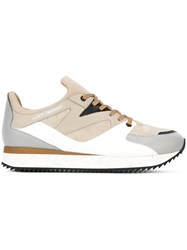 Dolce And Gabbana Panelled Sneakers Nude Neutrals