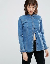 Minimum Alonsa Denim Shirt Medium Blue
