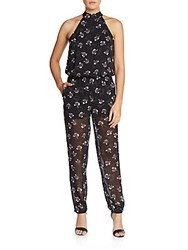 Rebecca Minkoff Hayley Printed Jumpsuit Black Multi