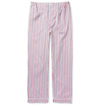 Sleepy Jones Marcel Striped Cotton Pyjama Trousers White